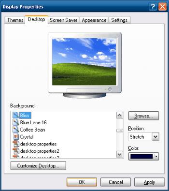 Desktop Properties